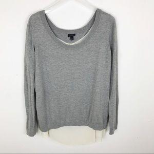 Torrid Grey Cream Over Lay Sweater 2X